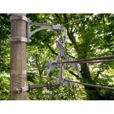 ESPAÇADOR LOSANGULAR COM GARRAS 15/25/35 kV