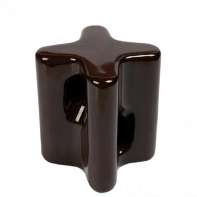 isolador castanha 85 x 90mm em porcelana